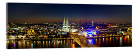 Verre acrylique  A panoramic view of cologne at night