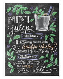 Poster  Mint Julep recipe - Lily & Val