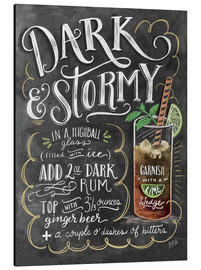 Alu-Dibond  Dark & Stormy Cocktail - Lily & Val