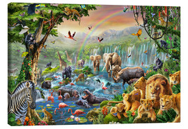 Toile  Jungle River - Adrian Chesterman