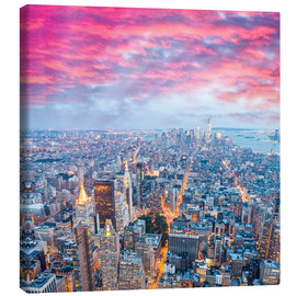 Tableau sur toile  Amazing New York skyline at night