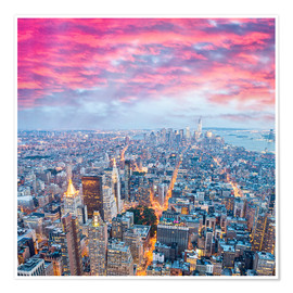 Poster  Amazing New York skyline at night