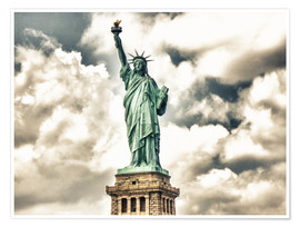 Poster  Statue of Liberty - symbol of New York