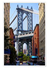 Poster  Manhattan Bridge et Empire State Building