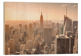 Tableau en bois  Empire State Building in New York