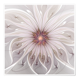 Poster  Floral Fantasy, Abstract Fractal Art - gabiw Art