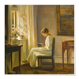 Carl Holsoe - woman reading