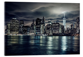 Verre acrylique  Manhattan at night, New York City