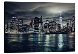 Alu-Dibond  Manhattan at night, New York City