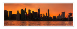 Poster Skyline de Manhattan