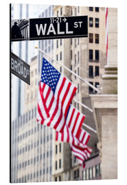 Alu-Dibond  Wall street sign with New York Stock Exchange