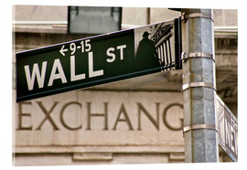 Verre acrylique  Wall Street - street sign