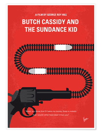 Poster No585 My Butch Cassidy and the Sundance Kid minimal movie poster