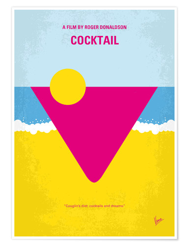 Poster No603 My Cocktail minimal movie poster