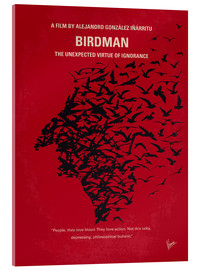 Verre acrylique  No604 My Birdman minimal movie poster - chungkong