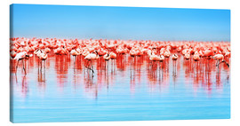 Tableau sur toile  Flamingo in the lake Nakuru
