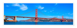 Poster Vue panoramique du pont du Golden Gate