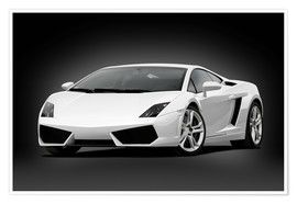 Poster  Dream car black and white