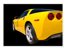 Poster  Yellow Corvette