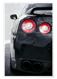 Poster  sports car Lights