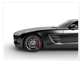 Poster  Sports car in black