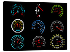 Toile  Speedometers for mph Fans