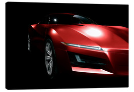 Toile  Red sports car