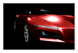 Poster  Red sports car