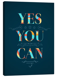 Tableau sur toile  Yes you can - Typobox