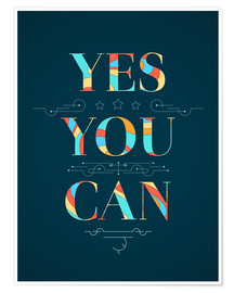 Poster  Yes you can - Typobox
