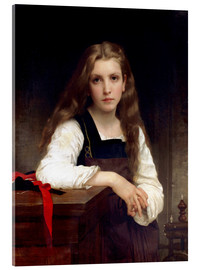 Tableau en verre acrylique  The small spinner - William Adolphe Bouguereau
