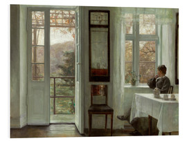 Forex  Wife of the artist at a window - Carl Holsoe