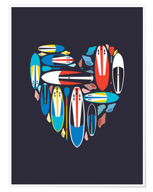 Poster  Surfboard Love