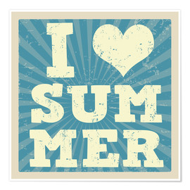 Poster  I love summer - Typobox