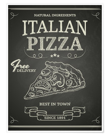 Poster Pizza italienne (anglais)