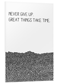 Tableau en PVC  Never Give Up - SMUCK