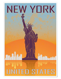 Poster  New York - Statue of Liberty