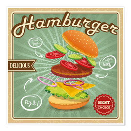 Poster  Delicious Hamburger