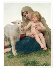 Poster  Vierge à l'agneau - William Adolphe Bouguereau