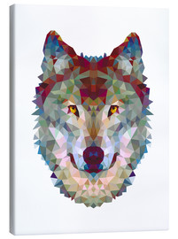 Toile  Polygon Wolf