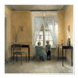 Poster  At the window - Peter Vilhelm Ilsted