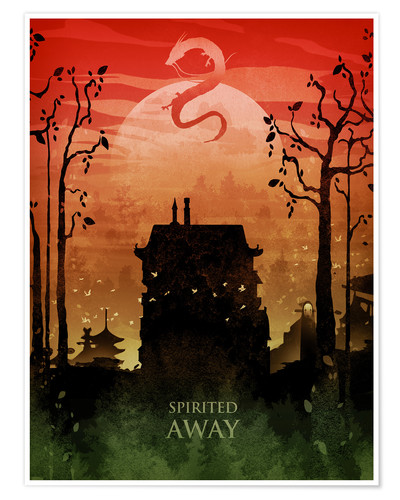 Poster Spirited away (Le Voyage de Chihiro)
