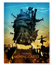 Poster  Howl's Moving Castle 2 (Le Château ambulant) - Albert Cagnef