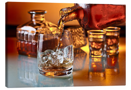 Tableau sur toile  glass with whiskey and ice