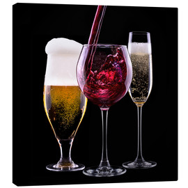 Tableau sur toile  drinks - beer, wine and champagne