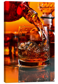 Tableau sur toile  whiskey and ice