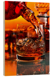 Tableau en bois  whiskey and ice