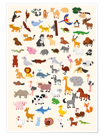 Poster  Le monde des animaux - Kidz Collection
