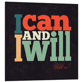 Tableau en PVC  I can and i will - Typobox