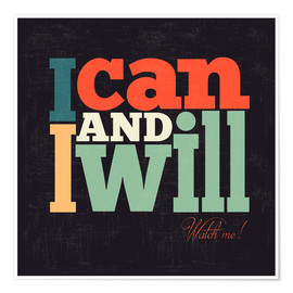 Poster  I can and i will - Typobox